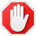 ícone bloqueado de anúncios